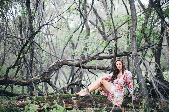Caitlin's Floral Inspired Outdoor Boudoir Session
