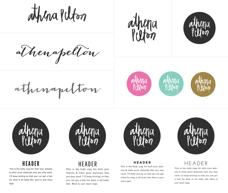 Athena Pelton Photography | Brand Board